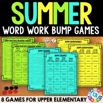 End of the Year Activities: Language Arts Review Games