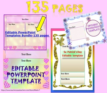End of the Year Activities - Editable Templates