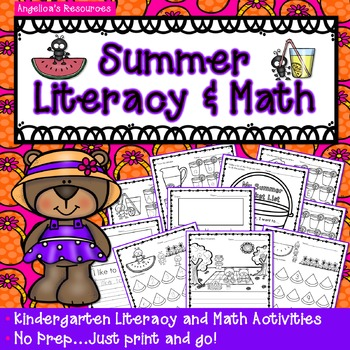 End of the Year Activities: Summer Literacy and Math Printables -Just Print & Go