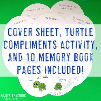 End of the Year Memory Book - FUN Turtle Compliments Activity - Summer Packet