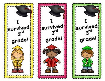 End of the Year Activity (3rd Grade) - Awards, Bookmarks, Memory Book