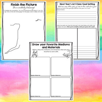 End of the Year Art Classroom Activities