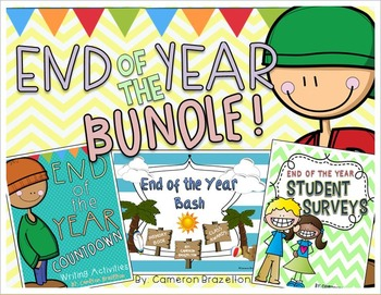 End of the Year Activities, Awards, Surveys and Writing Bundle