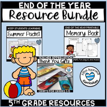 Last Week of School Activities for 4th 5th Grade Bundle