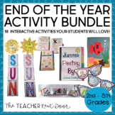 End of the Year Activities Bundle for 3rd - 5th Grades