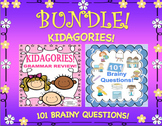 Bundle of Grammar 100th day of school Review and Brainy Questions!