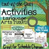 End-of-the-Year Activities - Differentiated & Fun for ELA