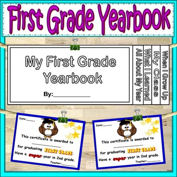 End of Year Activities First Grade