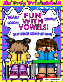 Back to School Fun with Vowels!  Grades 2 -3 No Prep Printables!