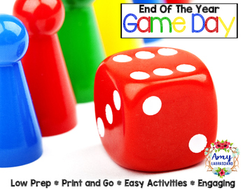 End of the Year Activities Game Day