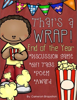 End of the Year Activities: Game, Gift Tags, Poem, Award