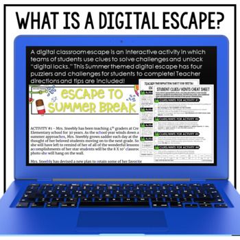 End of the Year Activities Google Classroom Digital Escape Room HOLIDAY FUN