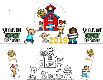 End of the Year Activities Hats 2018 / Bookmarks