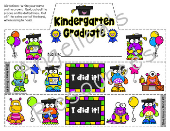 End of the Year Activities : Kindergarten Graduation Crowns & Wristbands