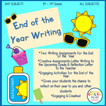 End of the Year Activities-Letter Writing