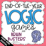 End of the Year Activities - Logic Puzzles - Google Classroom Distance Learning