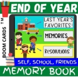 End of the Year Activities MEMORY BOOK Resolutions Reflect