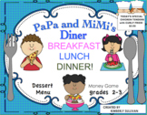 Back to School Math Menu  Printables  Games PaPa and MiMi's Diner!