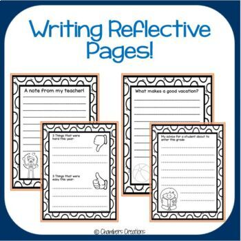 End of the Year Activities- Memory Book! No Prep Needed!