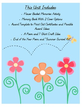 End Of The Year Activities Memory Book Awards And Lot S More By