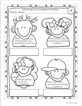 Back to school Activities My School Memory Book!