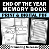 End of the Year Worksheets for a Reflection Memory Book
