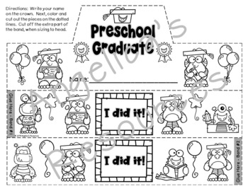 End of the Year Activities : Preschool Graduation Crowns and Wristbands - Craft