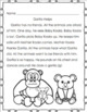 Back to School Review Reading Comprehension K-1 Printables No Prep