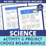 End of the Year Activities Science Project Choice Board Bundle