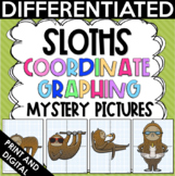 End of the Year Activities - Sloths Coordinate Graphing My