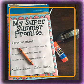 End of the Year Activities (Summer Learning or Reading Box)