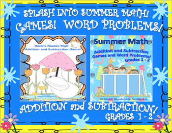 Math Games + Word Problems Grades 1 - 2