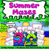 End of the Year Activities: Mazes Problem Solving Worksheets -Executive Function