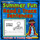End of the Year Activities : Summer Sentence Tracing - Just Print & Go!