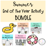 End of the Year Activities: Summer themed I SPY, Word Searches, Mazes, Coloring