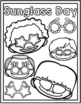 End of the Year Activities - Sunglass Day