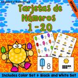 Spanish End of the Year Activities : Tarjetas de numeros - Numbers 1- 20