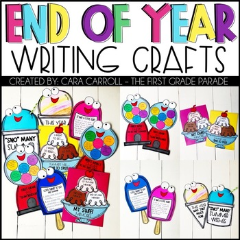 End of the Year Activities - Writing Crafts