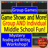 End of the Year Activities for Middle School - Group Games and Mystery Workshop!