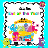 End of the Year Activities and Memory Book Monster Theme for K-1