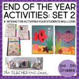 End of the Year Activities for 3rd - 5th Grade