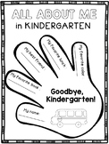 End of the Year Activities Kindergarten Memory Book