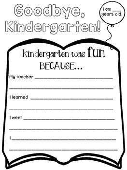 End of the year books for kindergarten