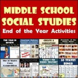 End of Year Activities for Middle School Social Studies Bundle