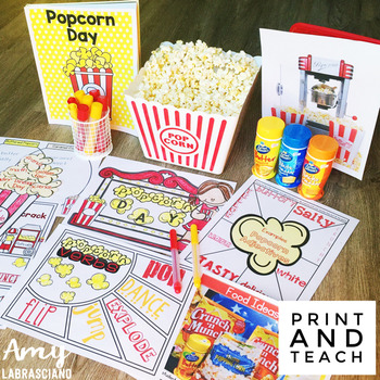 End of the Year Activities for Popcorn Day