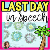 End of the Year Speech Therapy Activities   Last Day in Speech