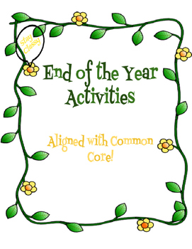 End of the Year Activities for multiple grade levels! Common Core Aligned!