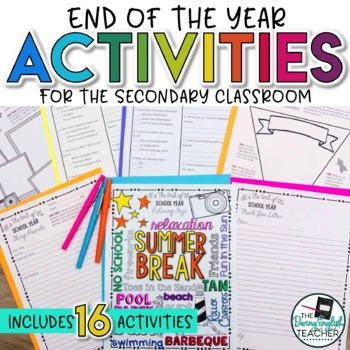 End of the Year / Last Week of School Activities for the