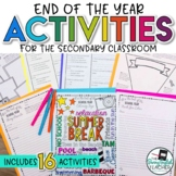 End of the Year / Last Week of School Activities for the Secondary Classroom