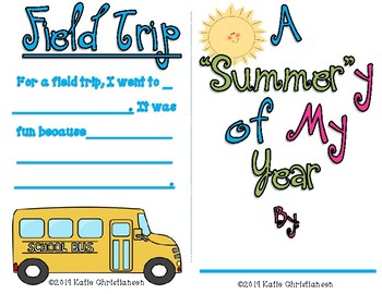 End of the Year Activity - FREE